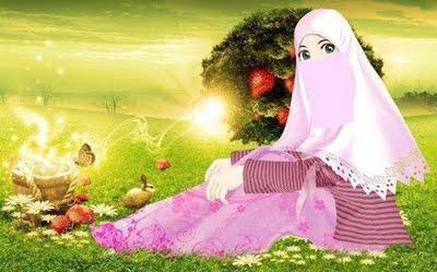 Lalaikan Wanita Muslimah 1 Mewarnai Kuku Pacar Gambar Kartun Terbaru